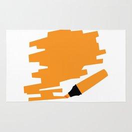 Orange Marker Copy Space Rug