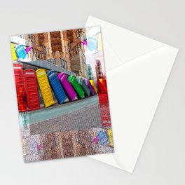 Multicolour Angle phone booth Stationery Cards