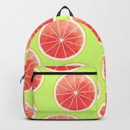 Pink Grapefruit Slices Pattern Backpack