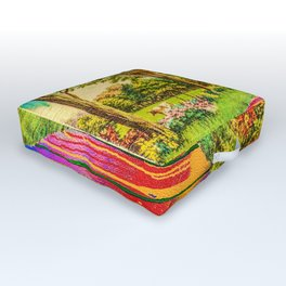 Greetings From Wonderland Outdoor Floor Cushion