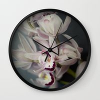 orchid Wall Clocks featuring Orchid by Pure Nature Photos