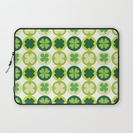 Lucky Irish Four Leaf Clovers Polka Dot Pattern Laptop Sleeve