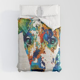 Colorful Great Dane Art Dog By Sharon Cummings Comforters