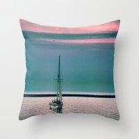 sail Throw Pillows featuring Sail by Alaina Abplanalp