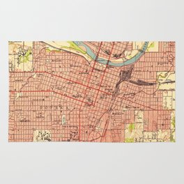 Vintage Map of Topeka Kansas (1951) Rug
