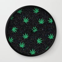weed Wall Clocks featuring Weed by jajoão