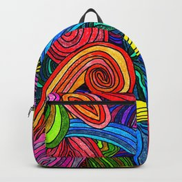 Psychedelic Lines Backpack