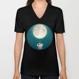 moon bunnies Unisex V-Neck
