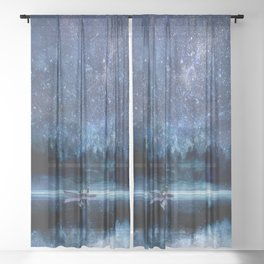 Night Sky Sheer Curtain