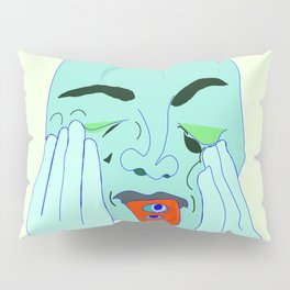 Sometimes I forget to take my anxiety medication In Lime Pillow Sham