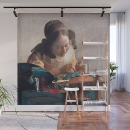Johannes Vermeer - The lacemaker Wall Mural