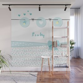 Baby boy background Wall Mural