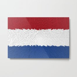 Extruded flag of the Netherlands Metal Print