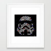 stormtrooper Framed Art Prints featuring Stormtrooper by Saundra Myles