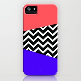 Infra Red Laser Blue Chevron iPhone iPhone Case