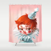 makeup Shower Curtains featuring Makeup by Joelle Murray