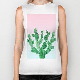 Cacti rose & green Biker Tank