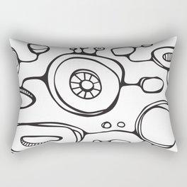 Orbs N Lines - Scribbles 01 Rectangular Pillow