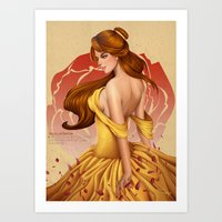 belle Art Prints featuring Belle by Zeamay