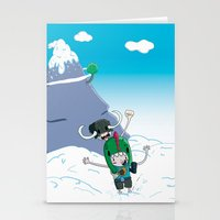 giants Stationery Cards featuring Tiny Giants by Panda Robot