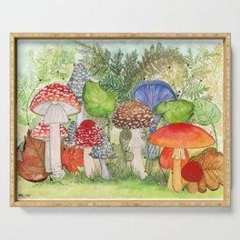 Mushroom Village Serving Tray