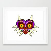 majoras mask Framed Art Prints featuring Majoras Mask by fiono