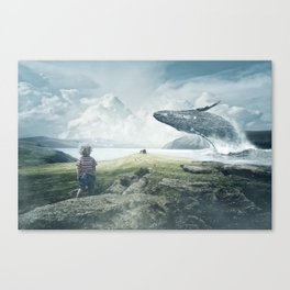 A Boy and His Whale Canvas Print