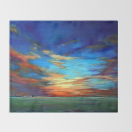 Sunset in the Heartland Throw Blanket