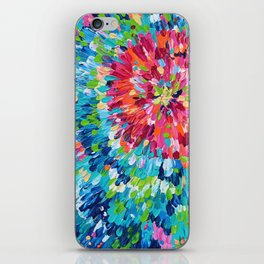Color Burst Finger Painting iPhone Skin