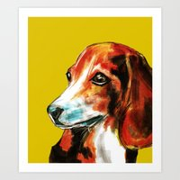 beagle Art Prints featuring Beagle by James Peart