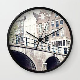 Amsterdam Canals Wall Clock