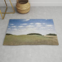 Rolling Hills, Tuscany, Italy landscape painting by Vilhelm Hammershoi Rug