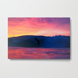 Rainbow Surfer Metal Print