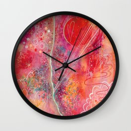 till your love is red Wall Clock