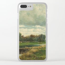 Landscape in the Environs of The Hague - Willem Roelofs (I) (1870-1875) Clear iPhone Case