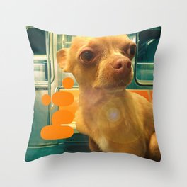 PHiNEAS subway greetings Throw Pillow