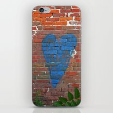 Blue Heart iPhone & iPod Skin