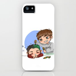 green hair dont care iPhone Case