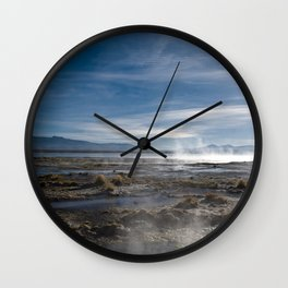 Bolivia 3-Geysers Wall Clock