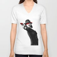 peggy carter V-neck T-shirts featuring Peggy Carter by Long live the Evil Queen♔
