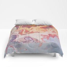 Abstract Pastel Color Liquid in Water Comforters