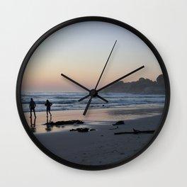 A Walk on the Beach Wall Clock