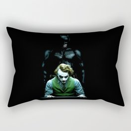 bat man and joker Rectangular Pillow