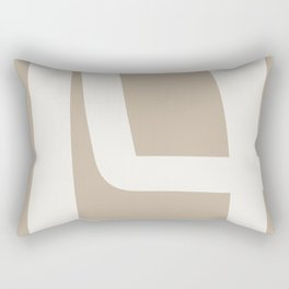 Neutral Abstract 5A Rectangular Pillow