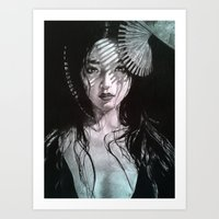 geisha Art Prints featuring Geisha by Mary Alice Art