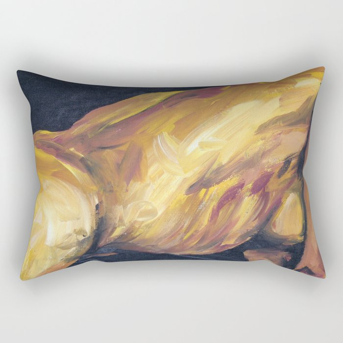 Musa en amarillo Rectangular Pillow