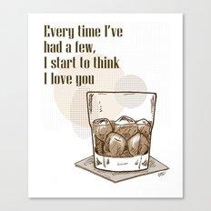 Scotch Love by RonkyTonk Canvas Print