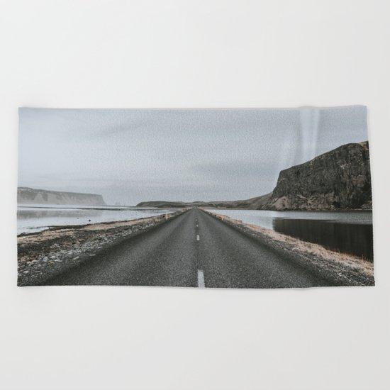 Empty Road - A Love Story Beach Towel