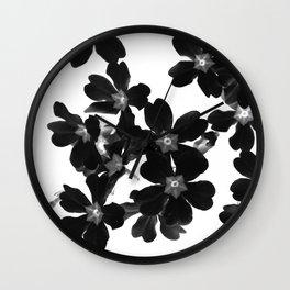Primrose In BW Wall Clock