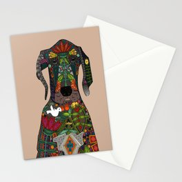 Great Dane love beige Stationery Cards